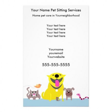 Best Pet Sitting Flyer Template Pdf Example