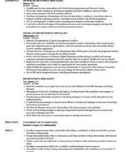 Best Recruitment Consultant Job Description Template Excel Sample