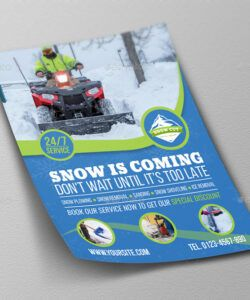 Best Snow Removal Flyer Template Word Sample