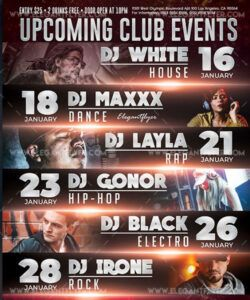 Best Upcoming Events Flyer Template Word Example