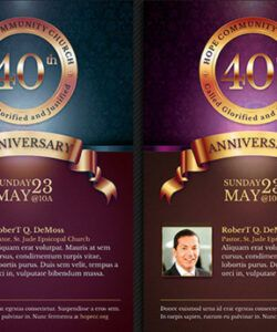 Church Anniversary Flyer Template Word Example