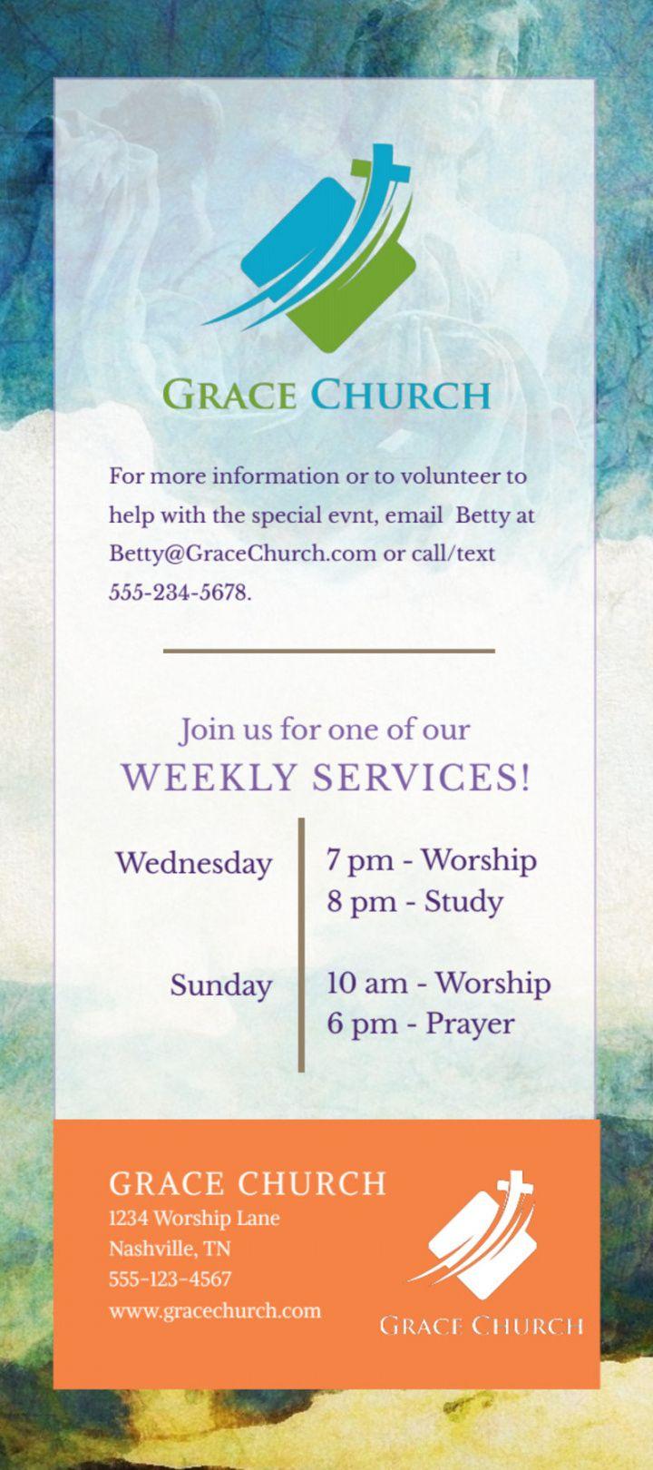 Church Anniversary Flyer Template Word