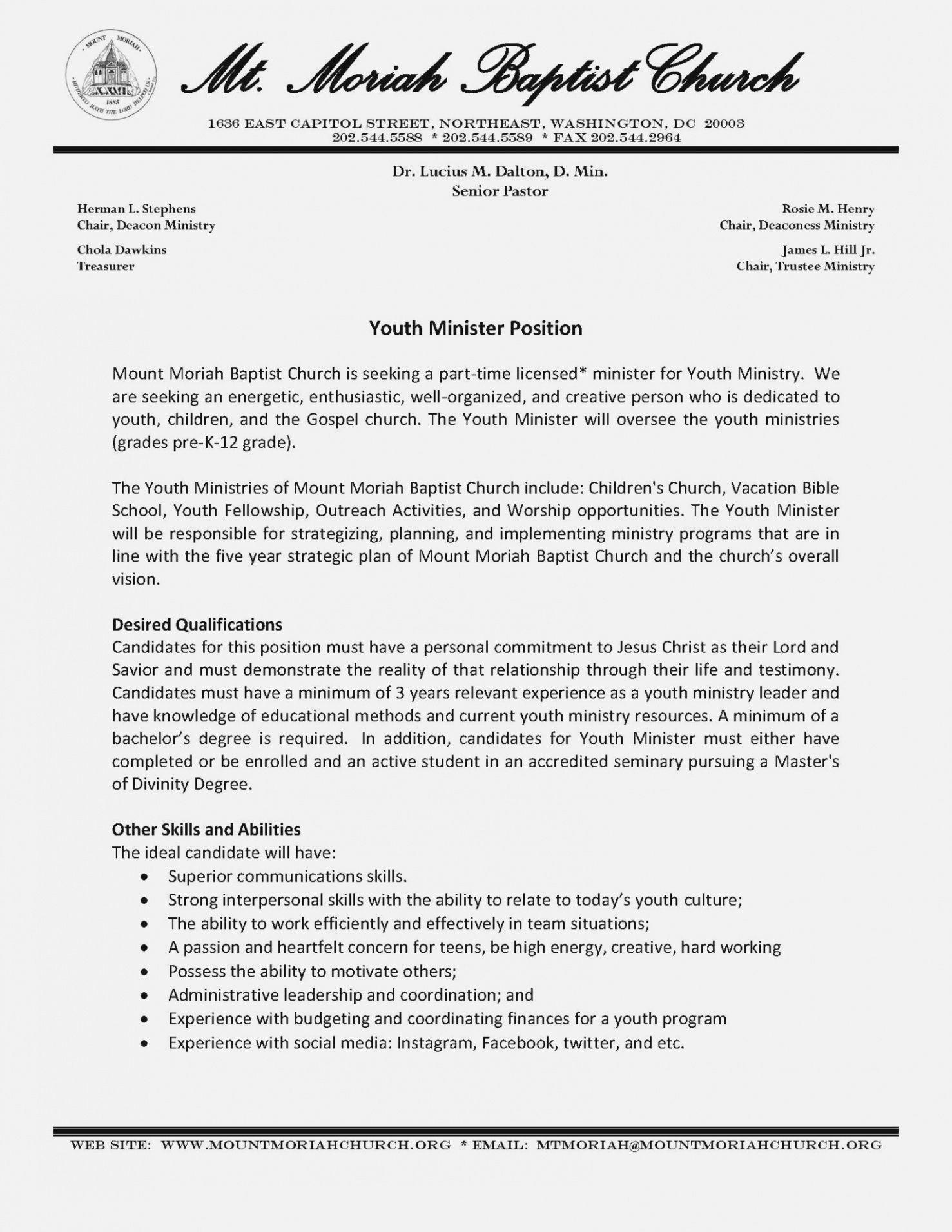 Committee Job Description Template Pdf Sample