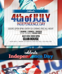 Costum 4Th Of July Flyer Template Excel