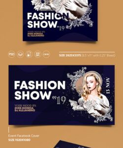 Costum Fashion Show Flyer Template Word Sample