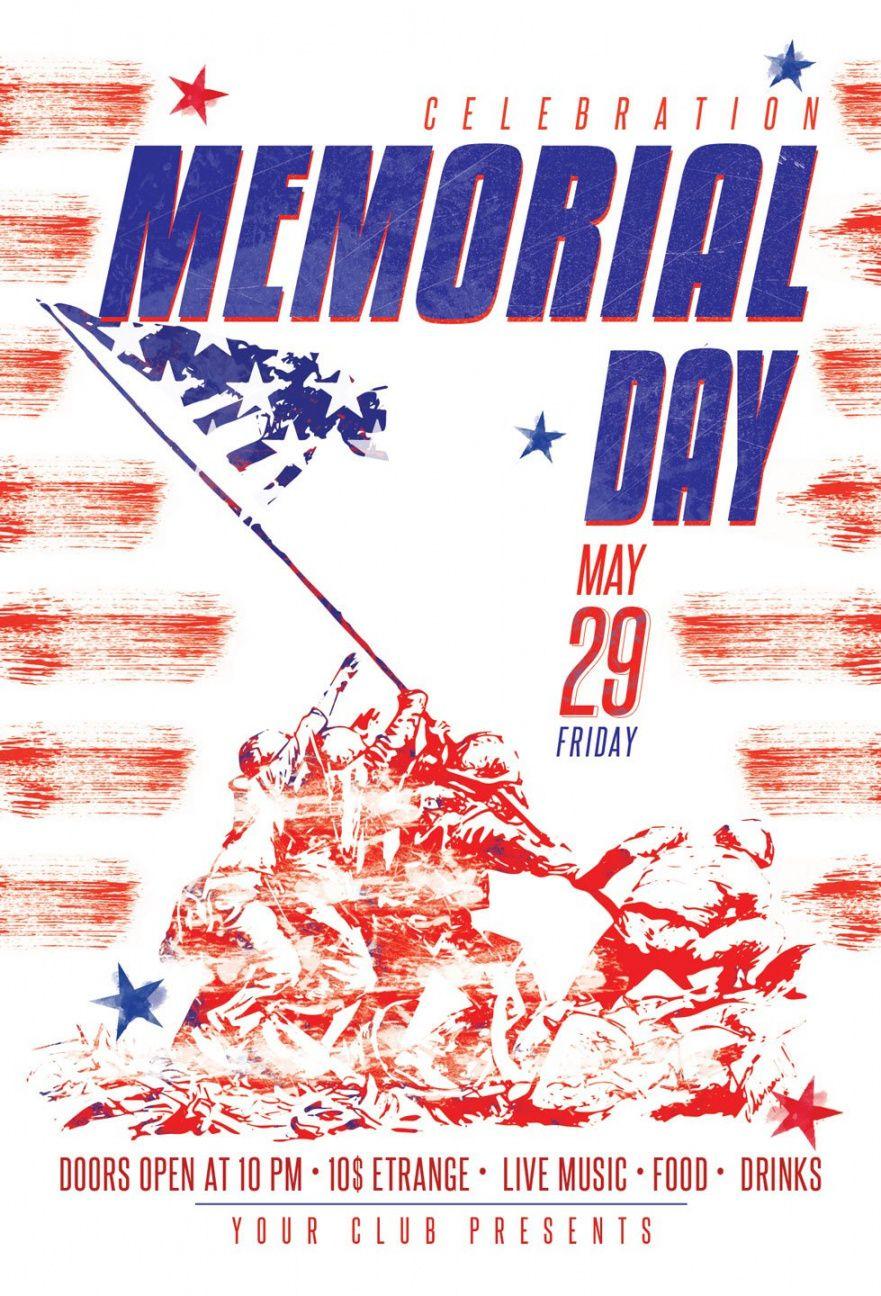 Costum Memorial Day Flyer Template Pdf Sample