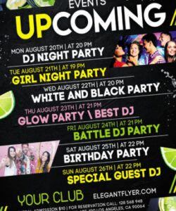 Costum Upcoming Events Flyer Template Excel Sample