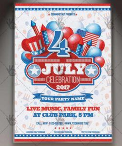 Editable 4Th Of July Flyer Template Word Example
