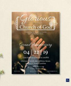 Editable Church Anniversary Flyer Template  Sample