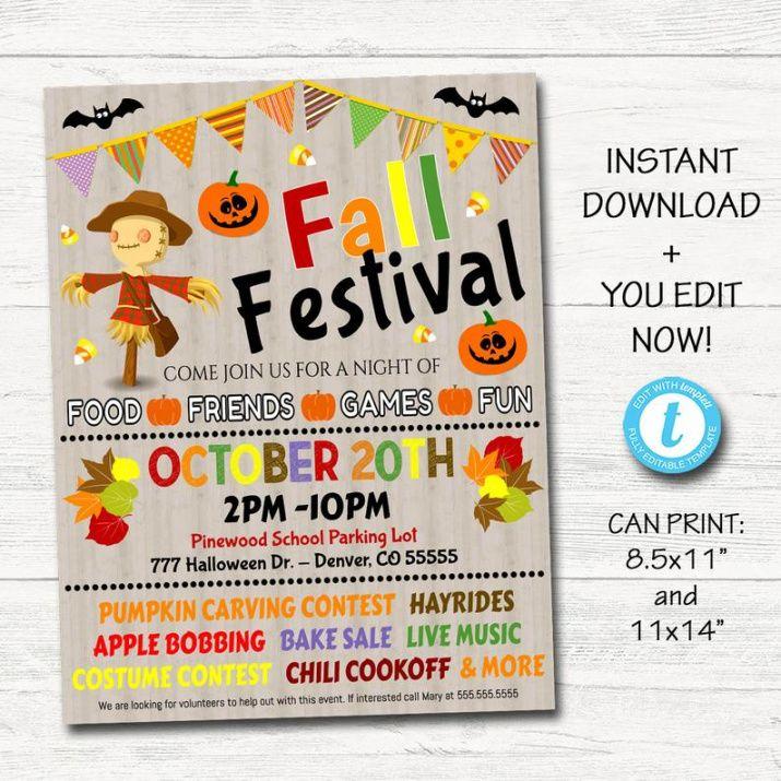 Editable Harvest Festival Flyer Template Pdf