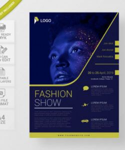 Fashion Show Flyer Template Excel