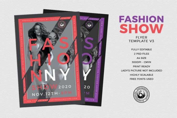 Fashion Show Flyer Template  Sample