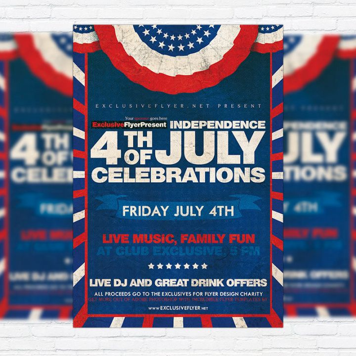 Free 4Th Of July Flyer Template Pdf