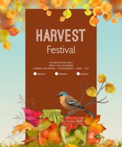 Free Harvest Festival Flyer Template Word
