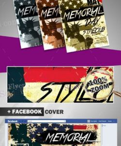 Free Memorial Day Flyer Template Doc Example
