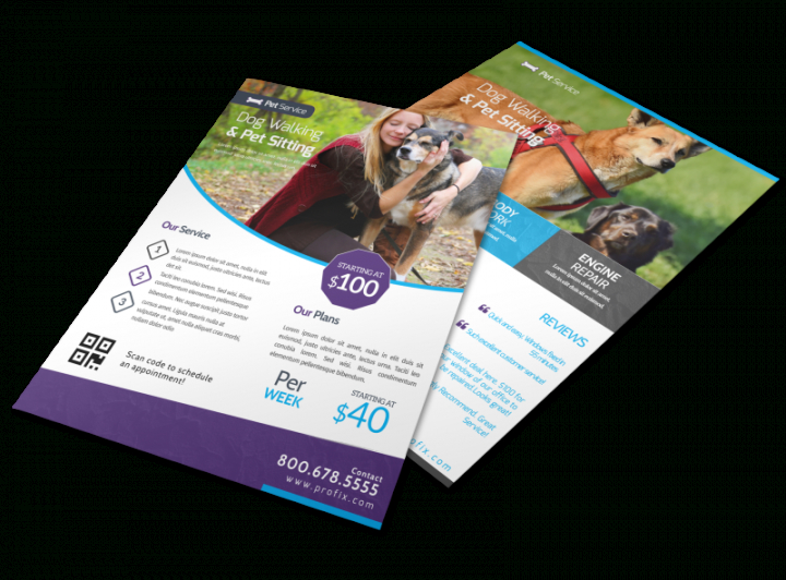 Free Pet Sitting Flyer Template Pdf Example