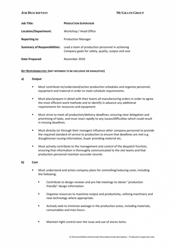 Free Practice Manager Job Description Template Doc Sample