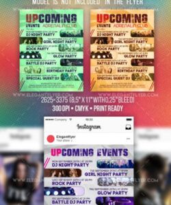 Free Upcoming Events Flyer Template Word Example