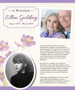 Funeral Flyer Template Pdf Sample