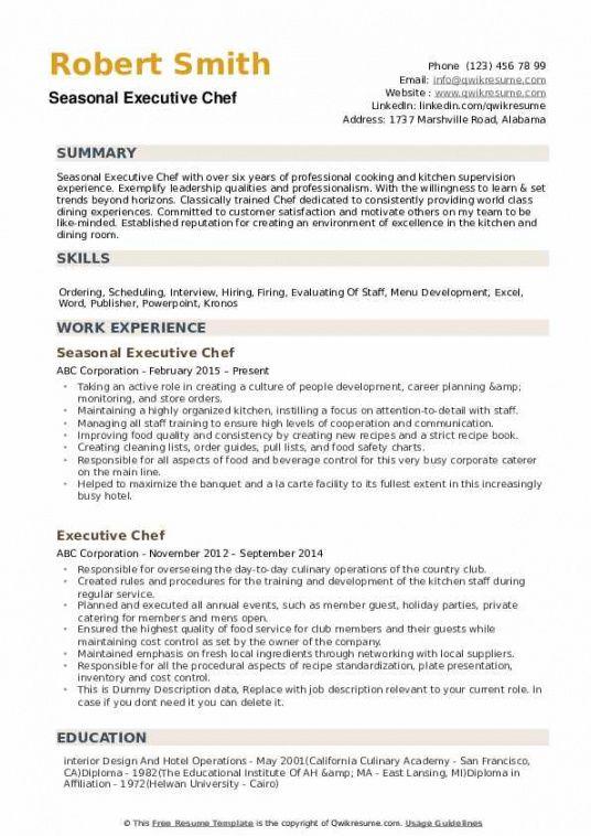 Kitchen Staff Job Description Template Pdf