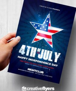 Printable 4Th Of July Flyer Template Doc