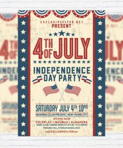 Printable 4Th Of July Flyer Template  Example