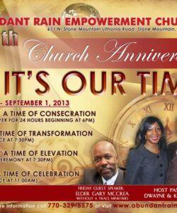 Printable Church Anniversary Flyer Template Doc