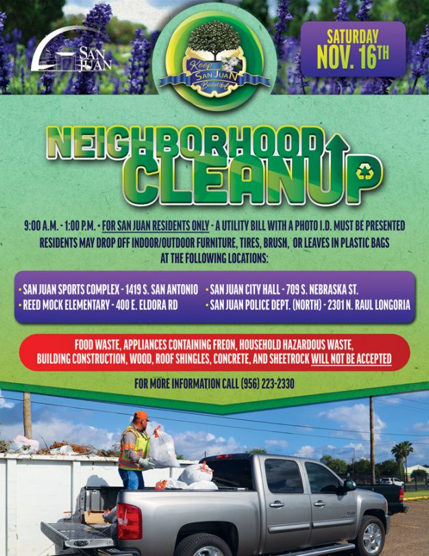 Printable Community Clean Up Flyer Template  Example