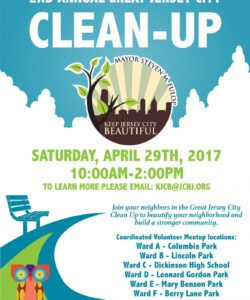 Printable Community Clean Up Flyer Template Excel Sample