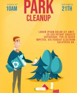 Printable Community Clean Up Flyer Template Word Example