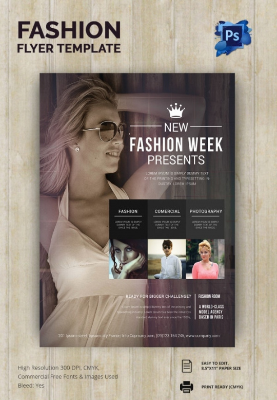 Printable Fashion Show Flyer Template Pdf Sample
