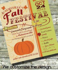 Printable Harvest Festival Flyer Template  Sample
