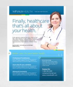 Printable Health Care Flyer Template Doc Example