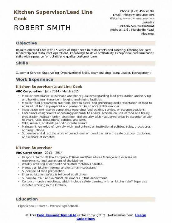 Printable Kitchen Staff Job Description Template