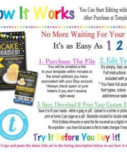 Printable Pancake Breakfast Fundraiser Flyer Template Excel Example
