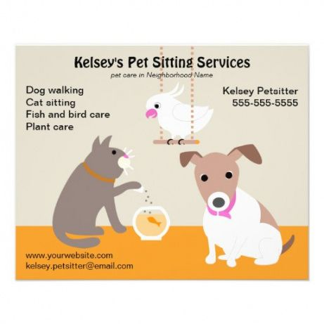 Printable Pet Sitting Flyer Template Excel