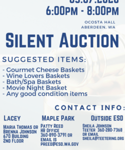 Printable Silent Auction Flyer Template