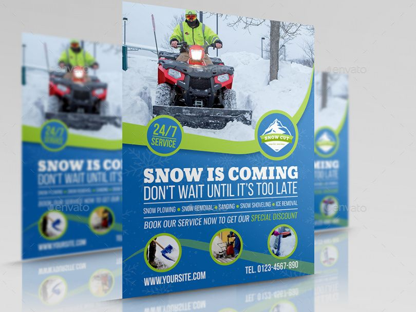 Printable Snow Removal Flyer Template Excel Sample