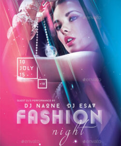 Professional Fashion Show Flyer Template  Sample
