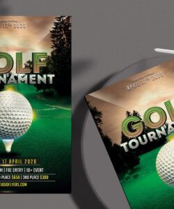 Professional Golf Tournament Flyer Template Excel Example