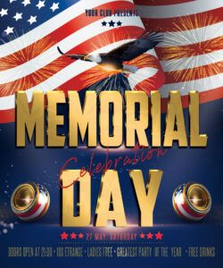 Professional Memorial Day Flyer Template Excel