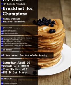 Professional Pancake Breakfast Fundraiser Flyer Template Doc