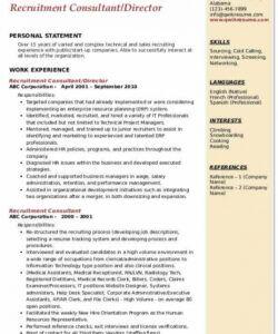Professional Recruitment Consultant Job Description Template Word Sample