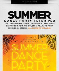Professional School Dance Flyer Template Pdf Example