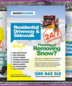 Professional Snow Removal Flyer Template