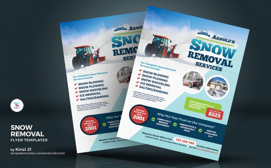 Professional Snow Removal Flyer Template Excel Sample