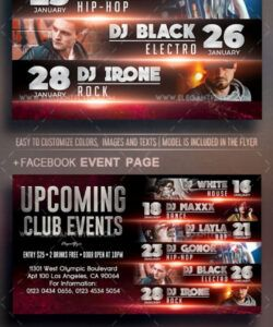 Professional Upcoming Events Flyer Template Excel Sample