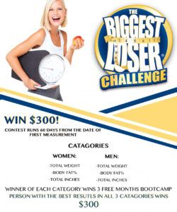 Professional Weight Loss Challenge Flyer Template Pdf Sample