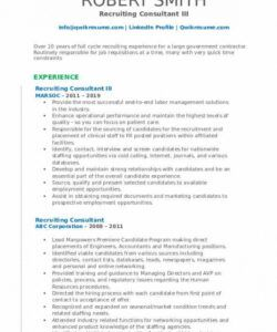 Recruitment Consultant Job Description Template  Example