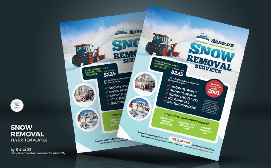 Snow Removal Flyer Template Excel Sample